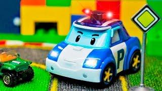 Voiture De Police Dessin Animé Pour Les Enfants Voitures