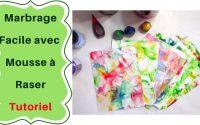 Comment faire du Papier marbré facilement : Tutoriel