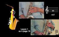 Cours de saxophone - Leçon 1 vidéo N°2