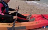 Leçon 1 partir revenir avec un kayak en mer