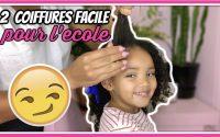 Tutoriel: 2 Coiffures pour enfants facile & pratique pour l'école. Cheveux crépus, bouclés, frisé...