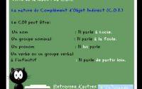 cours leçon de francais - complément d'objet direct et indirect - COD et COI + COS