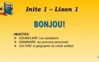 1.1 BONJOU (Cours de créole antillais M-G - Leçon 1)