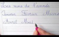 Cours leçon de français : bien écrire et lire les mois en cp ce1 et ce2
