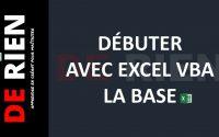 Débuter avec Excel VBA | Tutoriel Excel - DE RIEN