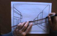 Dessiner La Perspective 1/4 Le Point De Fuite Leçon de dessin cour d'art de peinture