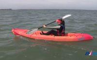 Leçon 2 : avancer-reculer avec un kayak en mer
