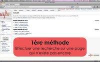 Mediawiki (tutoriel n°1/4) : Créer une page