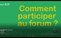 Tutoriel - Comment participer au forum de discussions sur la plateforme Objectif 2030