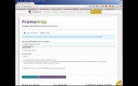 Tutoriel Framadrop Envoyez de gros fichiers en toute sécurité avec Framadrop