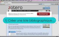 ZOTERO Tutoriel n°4 : Listes bibliographiques & Traitement de texte