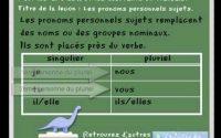 les pronoms personnels sujets - leçon de français CP, CE1