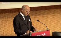 Leçon inaugurale de PSIA Sciences Po avec Laurent Fabius - 2015