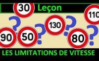 Code de la route Leçon #5 - Les Limitations de vitesse
