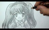Comment dessiner un visage Manga fille [Tutoriel] 3