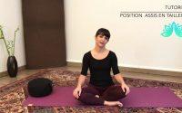 Cours de Pilates - Tutoriel - Position assis en tailleur