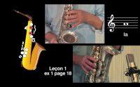 Cours de saxophone - Leçon 1 vidéo N°1