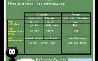 Cours leçon de français - les determinants www.ladictee.fr CE2, CM1, CM2