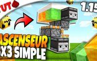 Faire un ASCENSEUR 3x3 SIMPLE et PAS CHER en 1.15 !! (Tutoriel) [Minecraft Redstone]