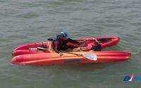 Leçon 4 : dessaler-ressaler avec un kayak en mer