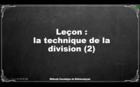 Leçon division posee CM2
