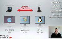 Les Systèmes d'exploitations : les pros de la souris Leçon 02