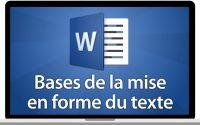 Tutoriel Word 2016 - Les bases de la mises en forme du texte