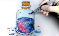"""3 Aquarelles effet """"Galaxie"""" faciles à créer ! (Tutoriel)"""