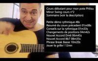 Apprendre le jazz manouche sur Minor Swing Cours Débutant n°2 pour mon pote Philou !