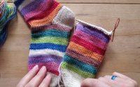 Chaussettes Toe-Up - Leçon 3 - Talons à rangs raccourcis
