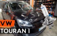 Comment remplacer ampoule de phare une VW TOURAN 1 (1T3) [TUTORIEL AUTODOC]