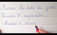 Leçon d'écriture cursive : écrire et lire la date en cp ce1 et ce2