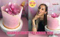 Sugared sheet technique tutoriel en français (cake design)