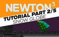Tutoriel 2/5 : Animer un Globe de Noël - Les Boules - avec After Effects et Newton3