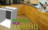 Tutoriel Fabriquer des Éléments Meubles de cuisine aménagée sur mesure - Bricolage facile - ép. 1