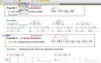 4eme Leçon Double distributivité Calcul littéral