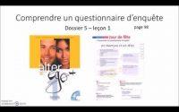 Dossier 5 - Leçon 1 Comprendre un questionnaire d'enquête