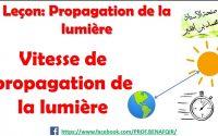 Leçon: Propagation de la lumière - vitesse de propagation de la lumière/ Prof Mohamed BENAFQIR