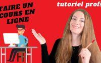 PROFS : Faire un cours en ligne avec un logiciel de vidéo-conférence. Tutoriel
