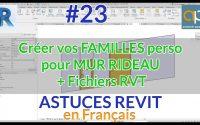 Porte pour Mur Rideau personnalisée - Astuce REVIT - Tutoriel