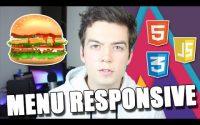 Tutoriel JavaScript / CSS3 - Menu Responsive et Icône Hamburger