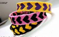 Tutoriel: faire un bracelet brésilien motif coeur (DIY friendship bracelet heart)
