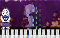 Undertale // Fallen Down (Reprise) | LyricWulf Piano Tutorial on Synthesia TuTORIEL // OST 85