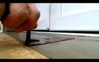 faire un seuil de porte au mortier ciment - tutoriel