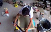 faire une plaque en ciment épaisseur 3 cm- tutoriel