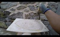 joints de pierres (imitation) fait par un artisan - tutoriel n°7