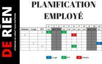 planification des absences des employés | Tutoriel Excel - DE RIEN