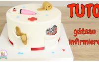 ♡• TUTORIEL DECORATION PATE À SUCRE GÂTEAU CAKE DESIGN INFIRMIERE  •♡
