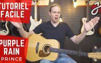 APPRENDRE « PURPLE RAIN » DE PRINCE À LA GUITARE - Cours de guitare - Tutoriel/tablature Gratuit/e