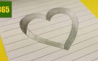 Comment dessiner une Illusion d'optique - Coeur - Tutoriel